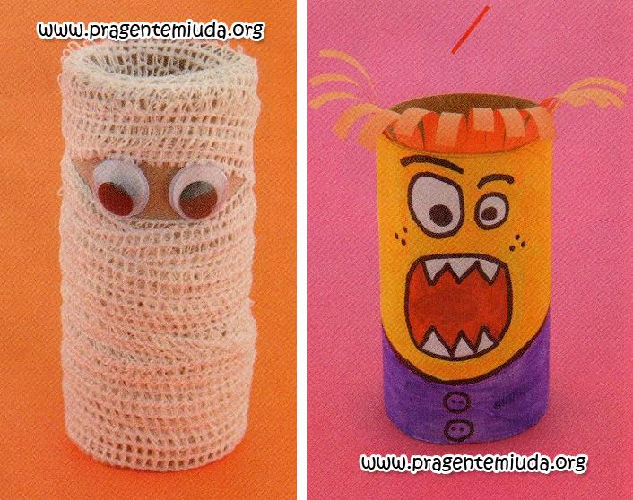brinquedos com reciclagem de rolo de papel higiênico