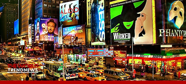 Broadway covers the large number of theaters, world trend news, new york city, us, trend news