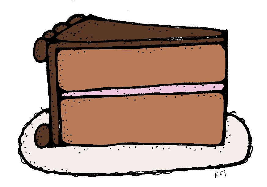 Slice Of Cake Clipart : MelonHeadz: Let us eat cake!