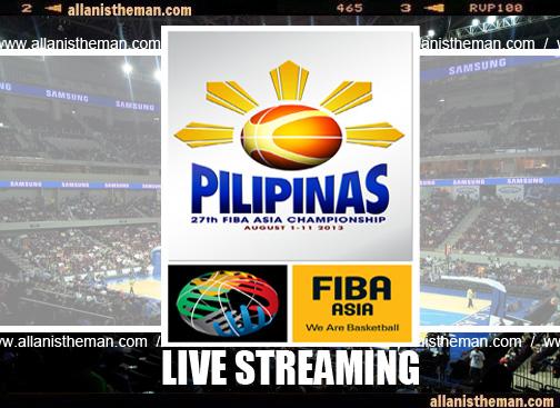 FIBA Asia Championship 2013 Live Streaming