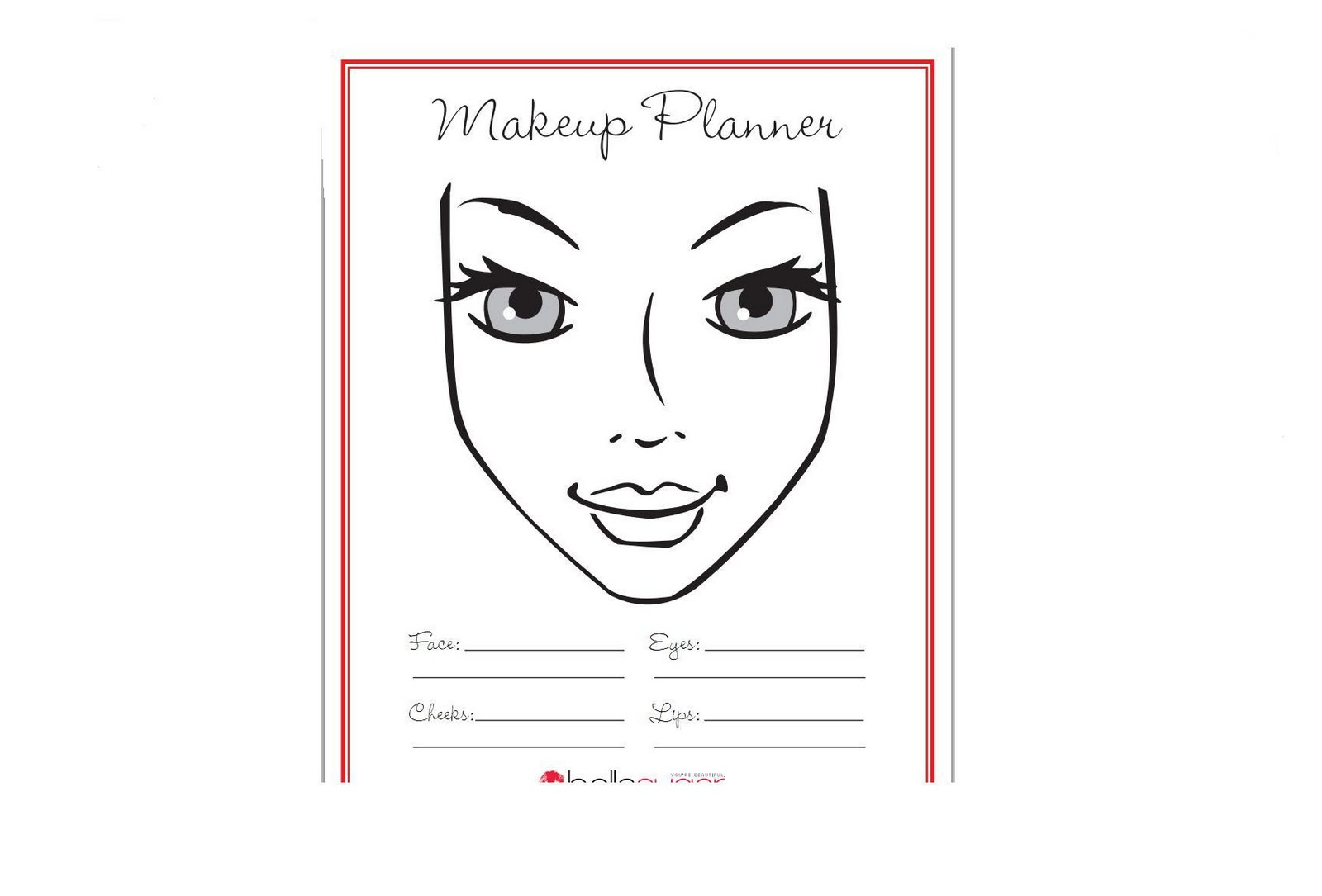 Mac Makeup Template Coloring Pages