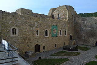 Neamt Fortress-west wall of the inner courtyard photographed