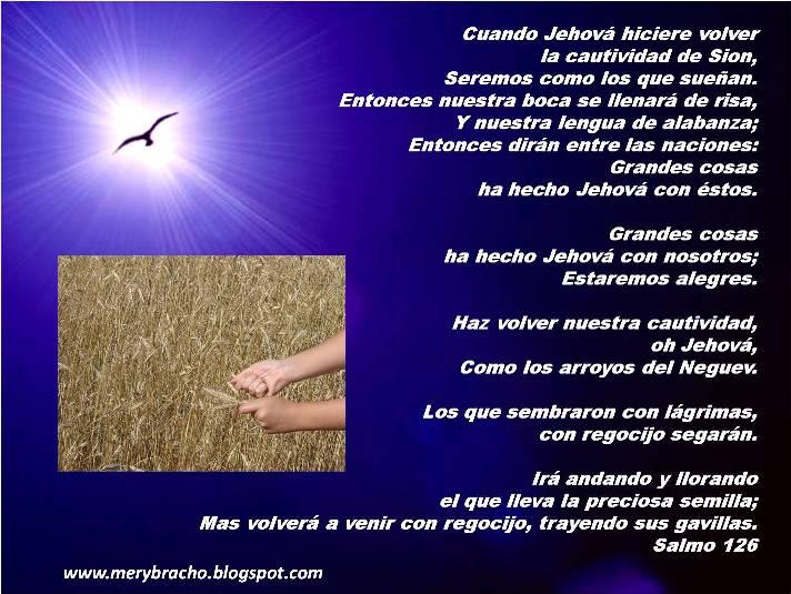 Postales cristianas imágenes de Dios Grandes cosas ha hecho Jehová salmo 126