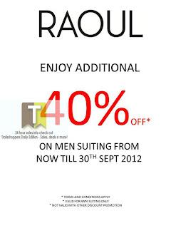 Raoul Johor Premium Outlets Special Sale 2012