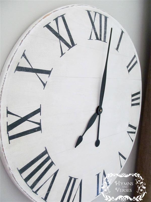 Wall Clock Ballard Design : Knock off ballard designs wall clock for under hymns