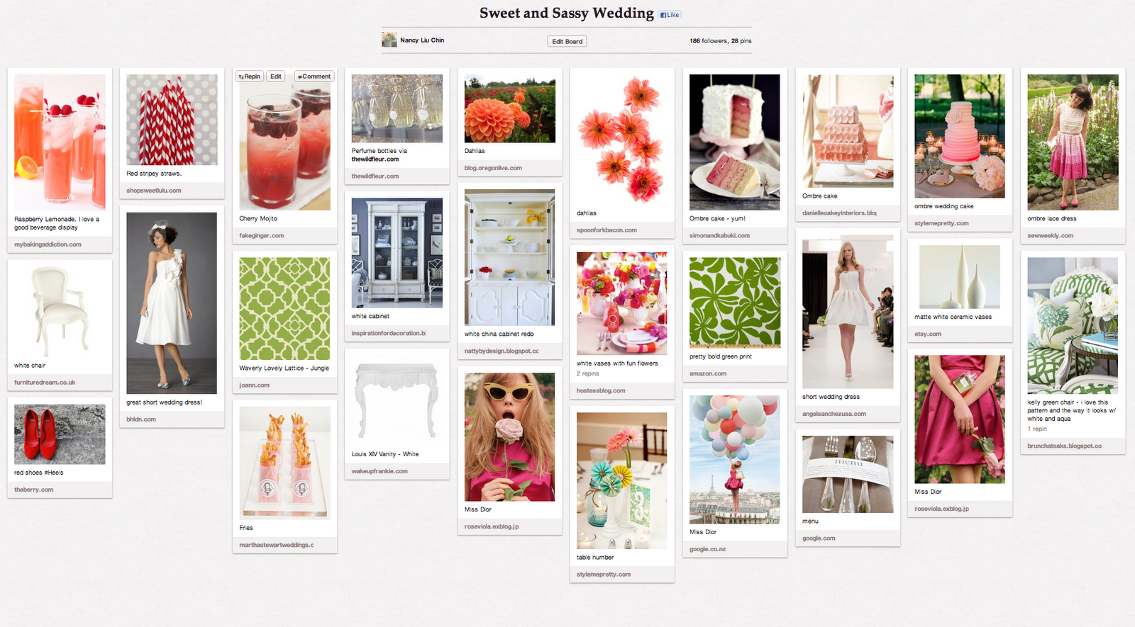 Using pinterest was a great way for us to share our thoughts with