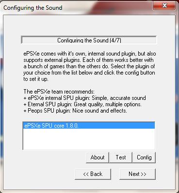 ePSXe Emulator 1.8.0 - Config Sound