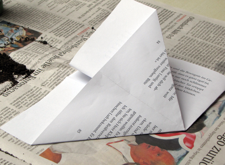 rauschmittel heute wird ges t pflanzt pfchen aus papier falten. Black Bedroom Furniture Sets. Home Design Ideas