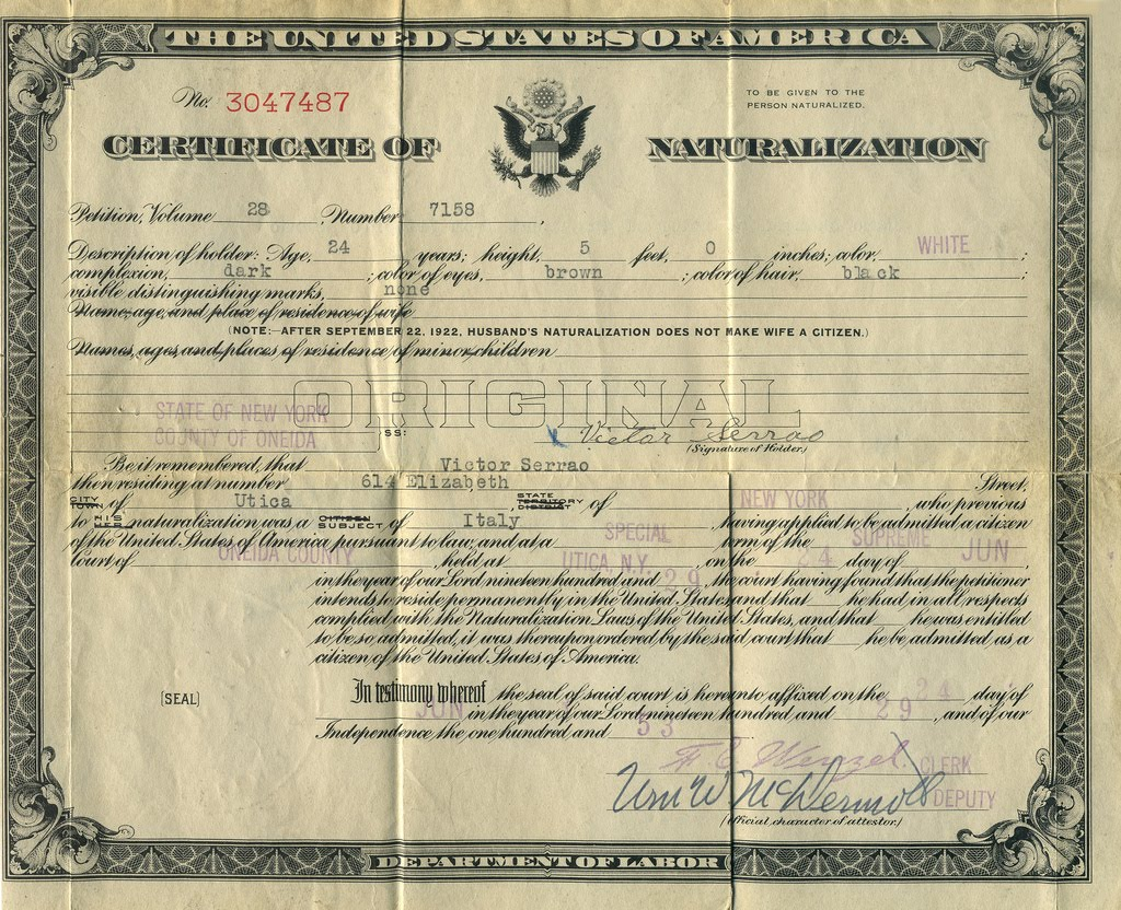 naturalization papers A guide to finding us naturalization records online and off.