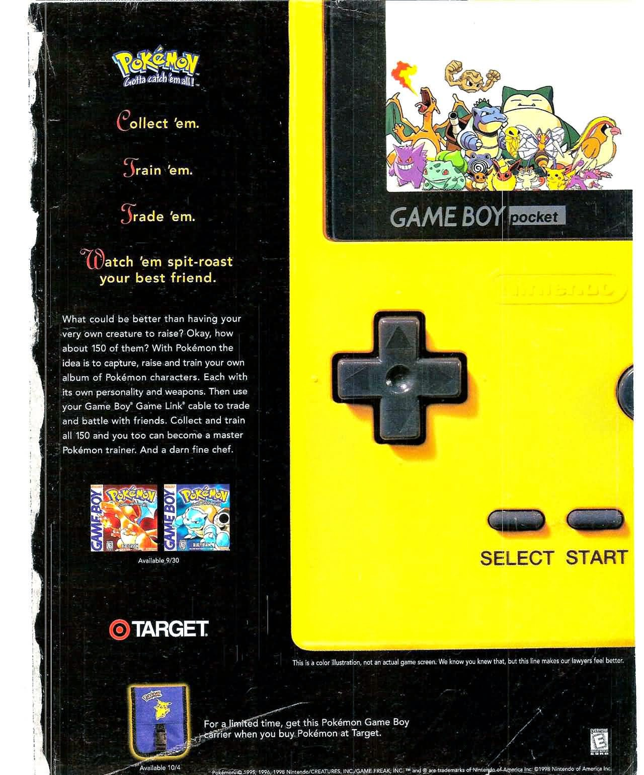 Gameboy color ad - And Finally The Rebirth Of Nintendo In Ad Form Pokemon