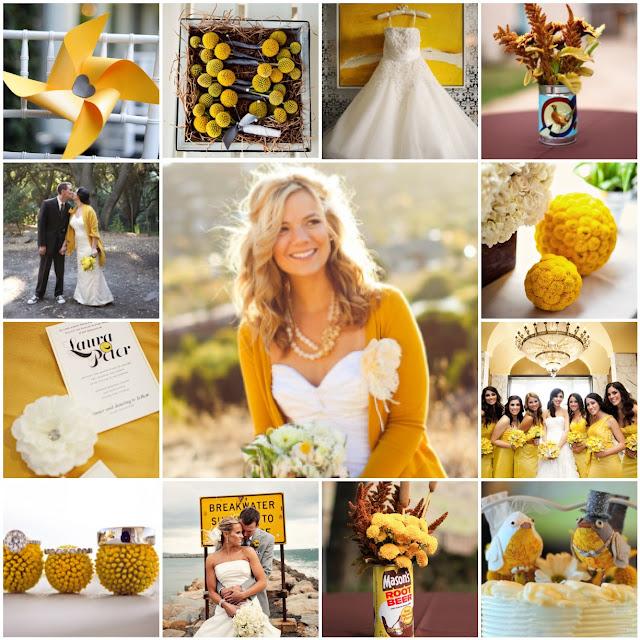 mustard yellow, golden yellow wedding