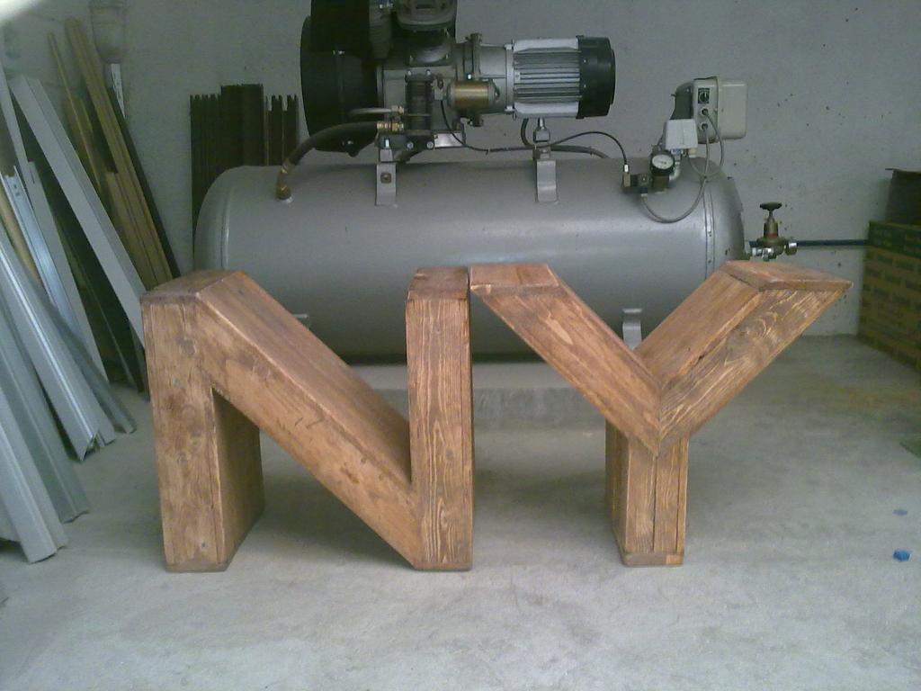 Las letras de palets de carlos - Casa letras madera ...