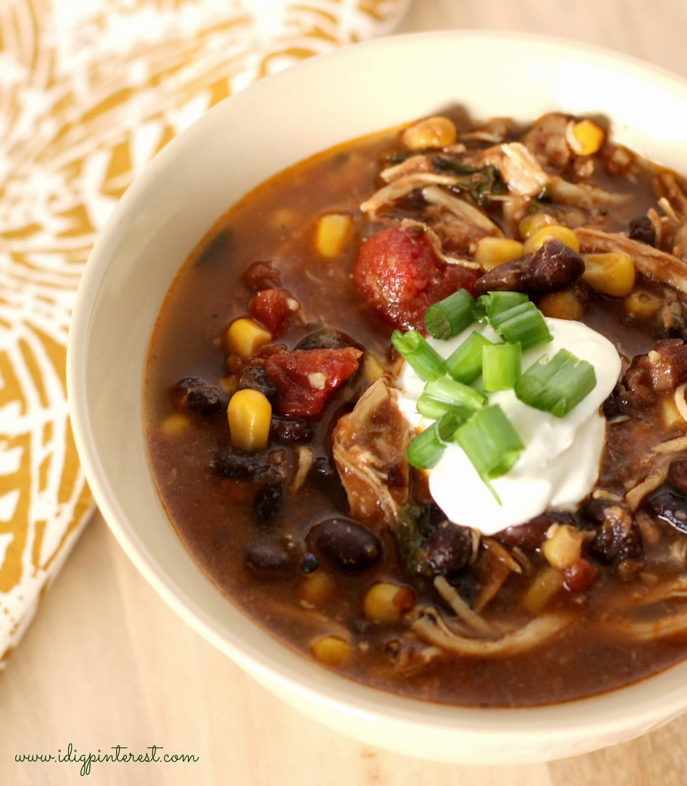 Dig Pinterest: Skinny Crock Pot Chicken Enchilada Soup