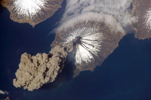 El volcán Cleveland