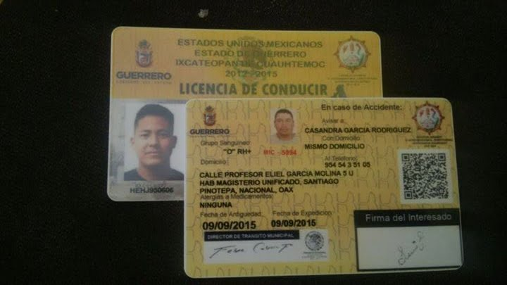 LICENCIAS DE GUERRERO CHOFER Y AUTOMOVILISTA
