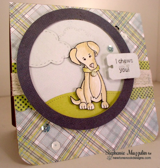Labrador Dog Card by Stephanie Muzzulin | Fetching Friendship Stamp set by Newton's Nook Designs