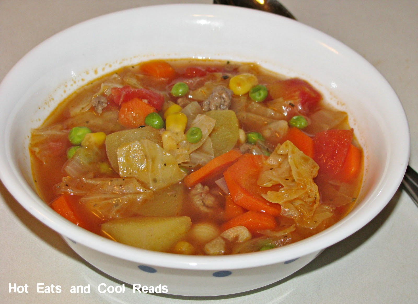 Hot Eats and Cool Reads: Hamburger Vegetable Soup Recipe