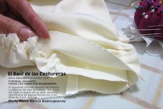 Confección chaqueta kaftán Aris Agoriuq de El Tiempo entre Costuras aplicación cinturilla