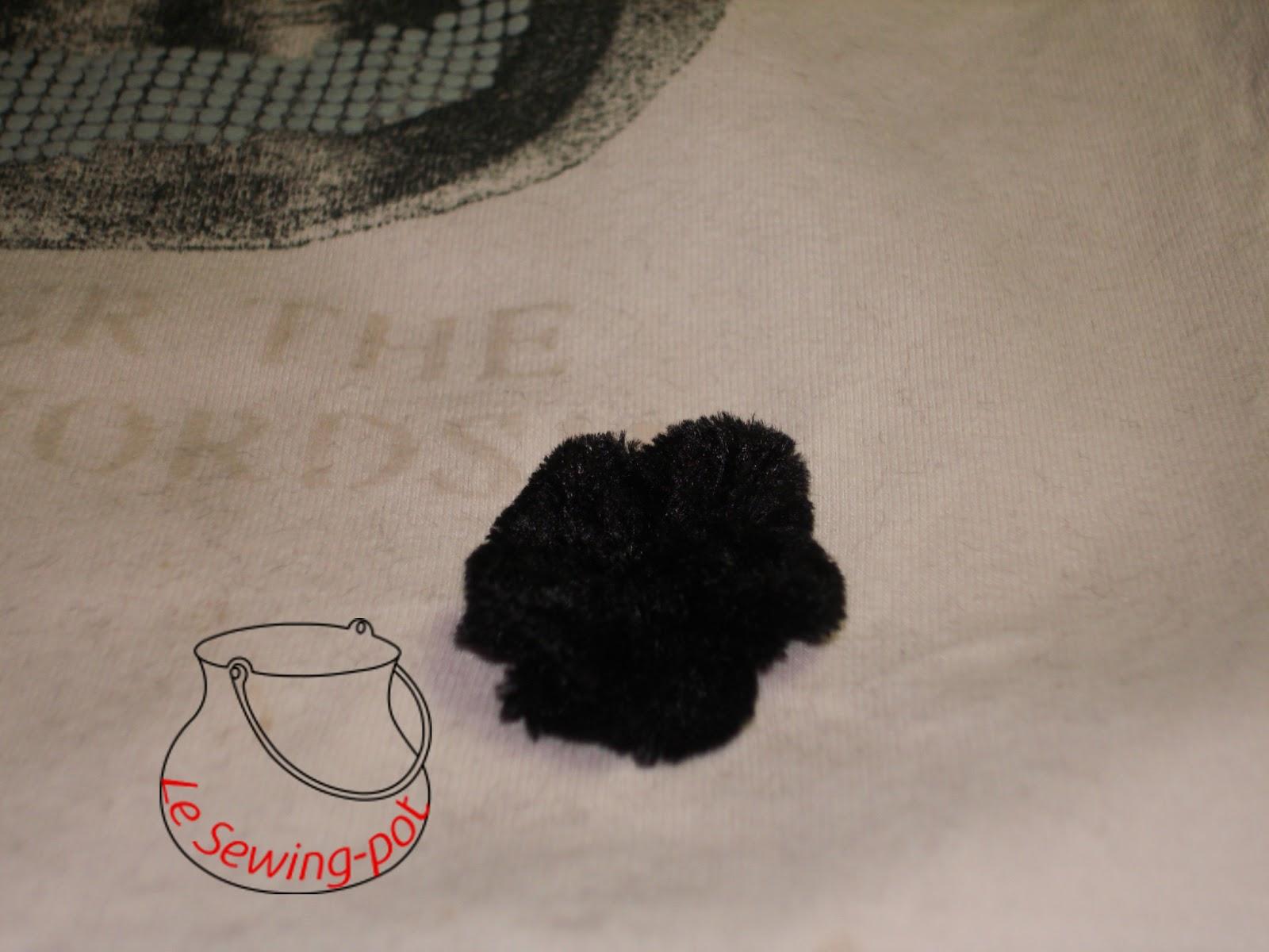 yo-yo fleur velours noir