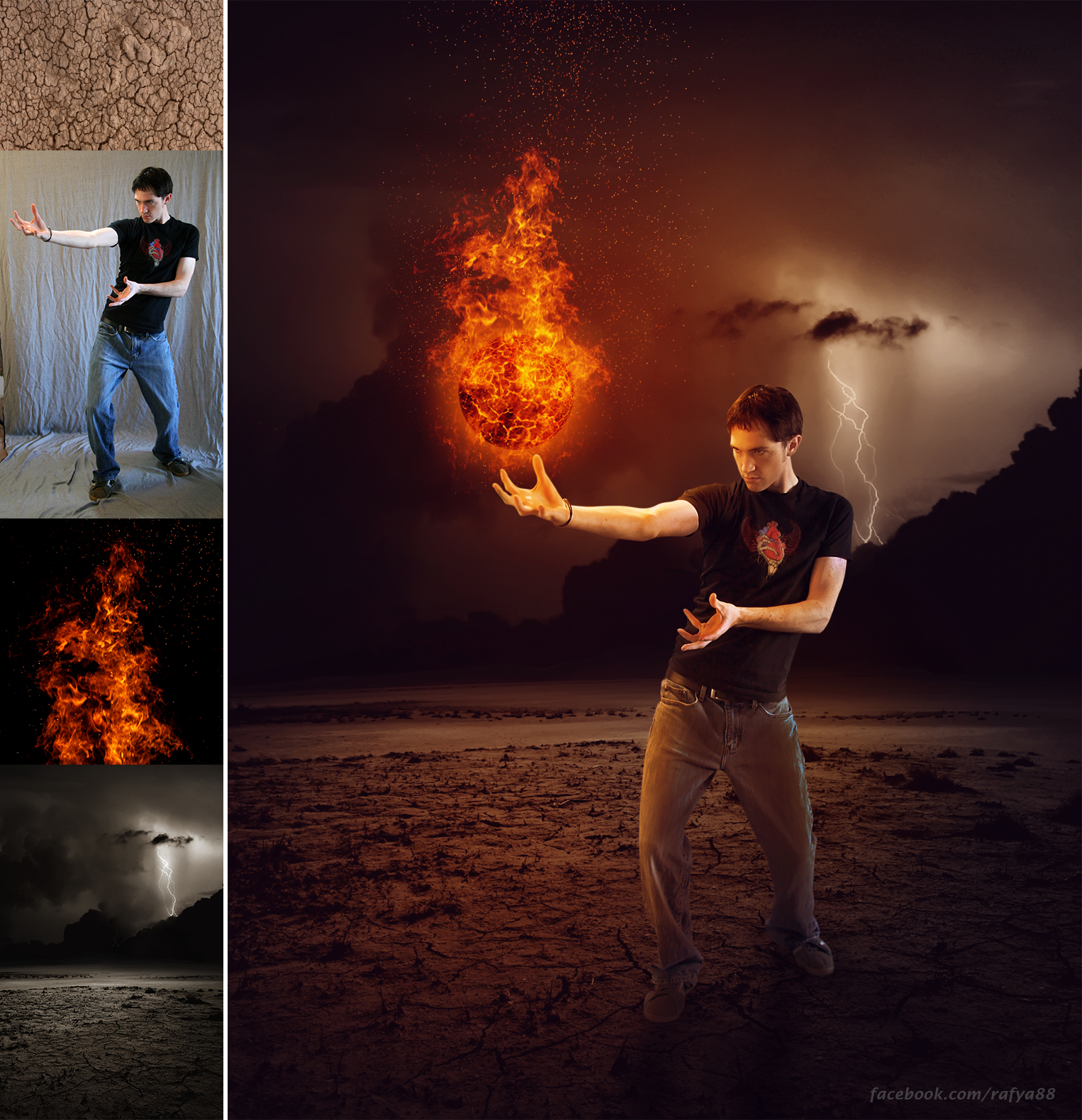 This Video Will Show You, How To Make Fire Ball Manipulation Effect In  Photoshop Cc