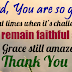 WITH GOD ON OUR SIDE - EVERY SACRIFICE HAS A FRUITFUL REWARD