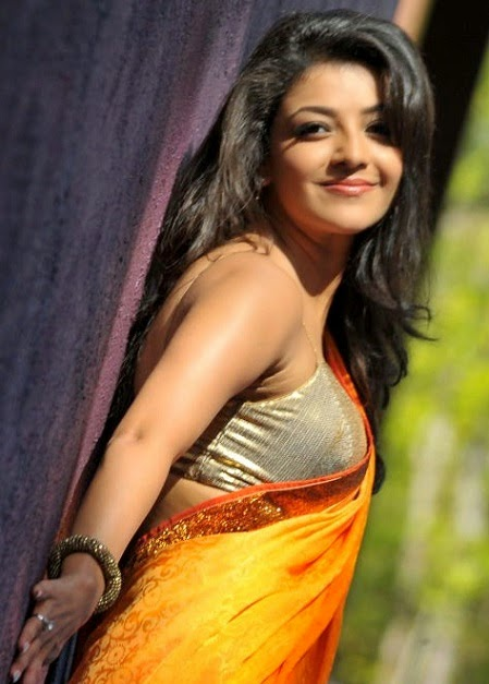 Beautiful Kajal agarwal in hot saree