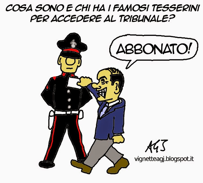 Tribunale Milano, Berlusconi, sicurezza, controlli, satira, vignetta