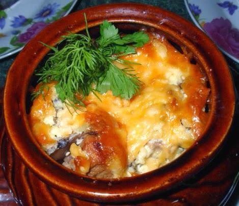 жаркое из свинины с картошкой в горшочках в духовке рецепт с фото