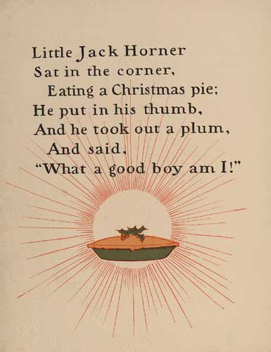 Jack Horner Eating A Christmas Pie