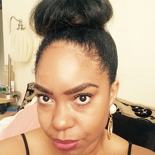 perfect  brows, bun on natural air, blowout styles