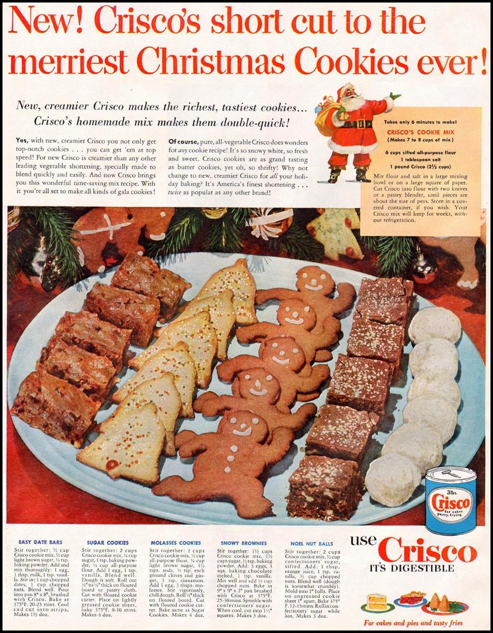 Dying For Chocolate Crisco Christmas Cookies Vintage Ad Recipes