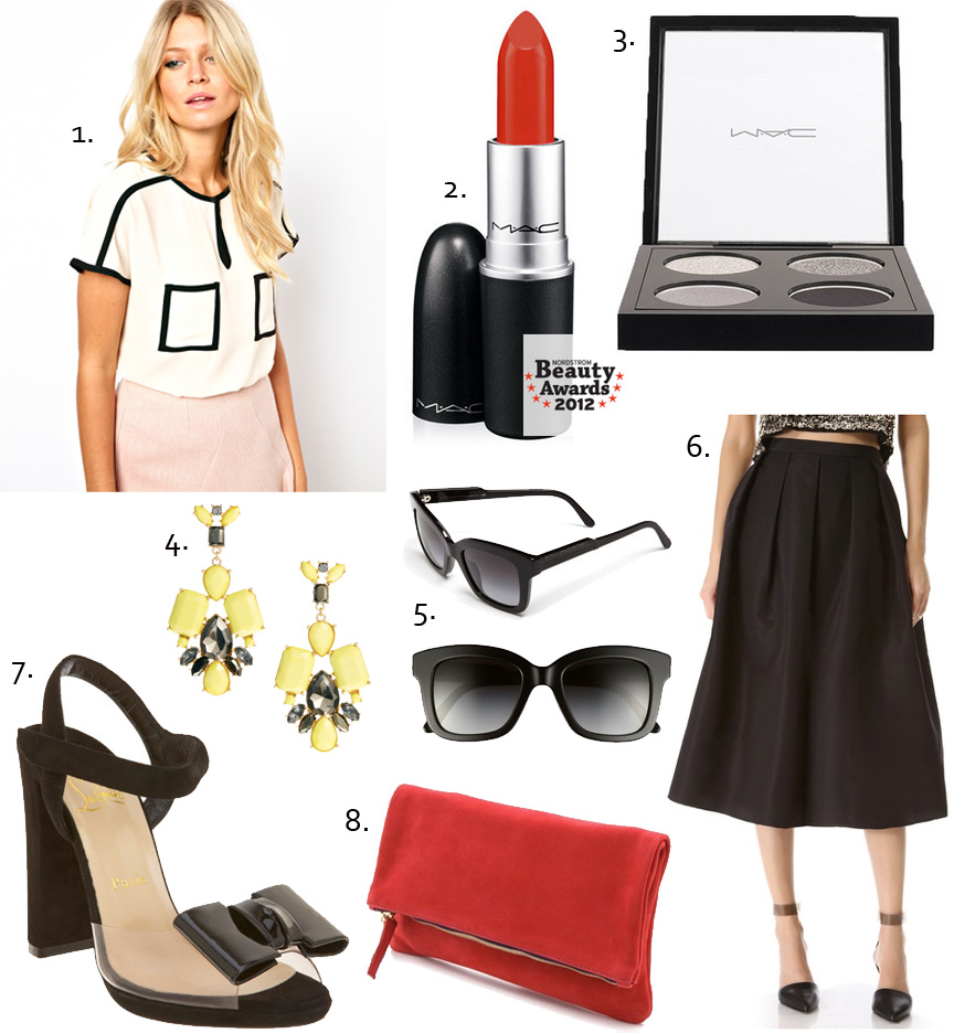 christian louboutin, claire vivier, ruby woo, mac makeup, stella mccartney, bow shoes, red soles, style blog, fashion blog