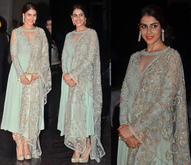 Genelia D'Souza in Pastel Blue Anarkali Suit