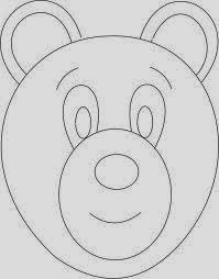 máscara oso urso