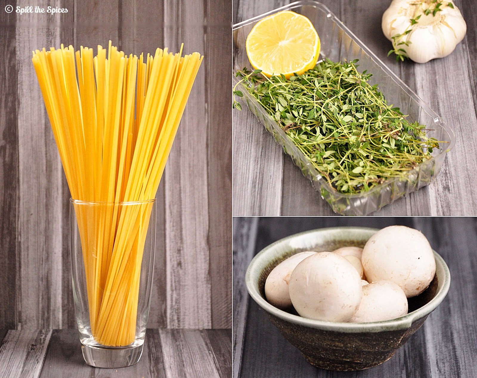 Linguine With Lemon, Garlic And Thyme Mushrooms | Spill ...