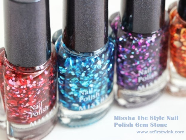 Missha The Style Gem Stone nail polishes