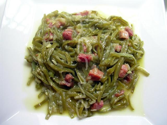 Judías verdes jamón receta casera