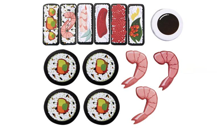 sushi sticky notes zakladki memo ryba krewetka