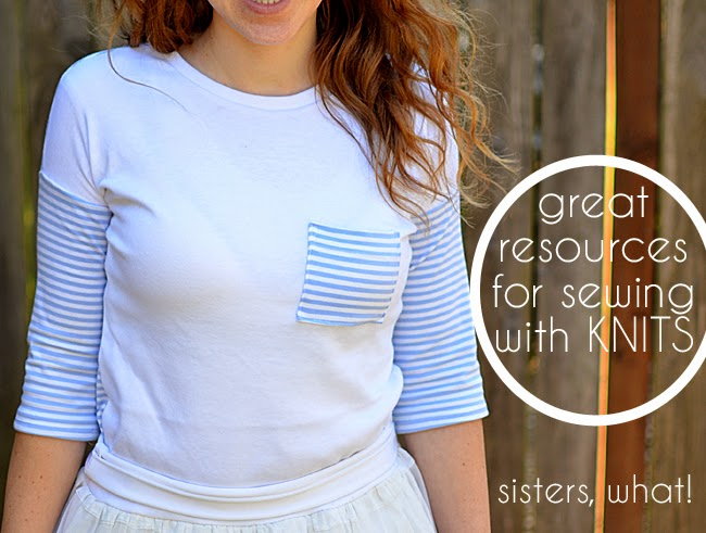 great resources for sewing with knits #knits