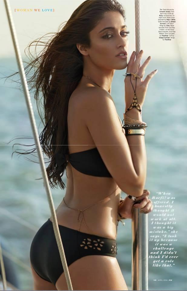 Ileana D'Cruz Black Bikini Wallpaper