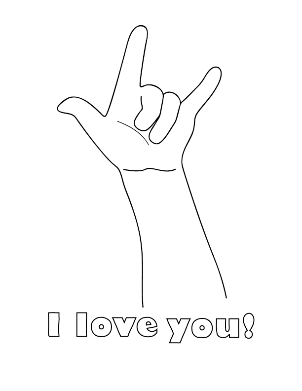 we love you coloring pages - photo#35