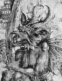 engraving, devil, art, black and white, etching