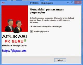Proses Installer Aplikasi PK Guru