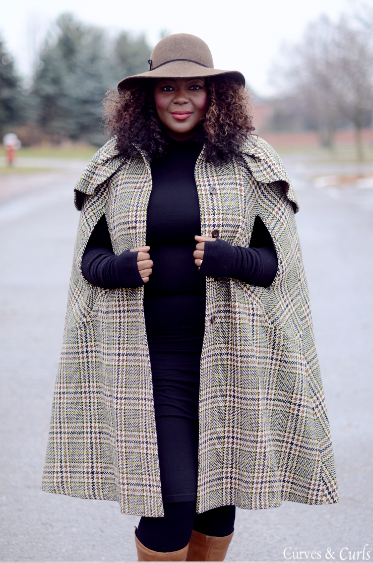 cape coat plus size