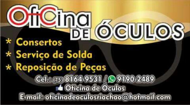 CONHEÇA A OFICINA DE OCULOS