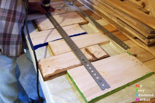 Putting Together a Broken Karate Board Coat Rack
