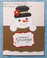Snowman Punch Art card designed by StampLadyKatie
