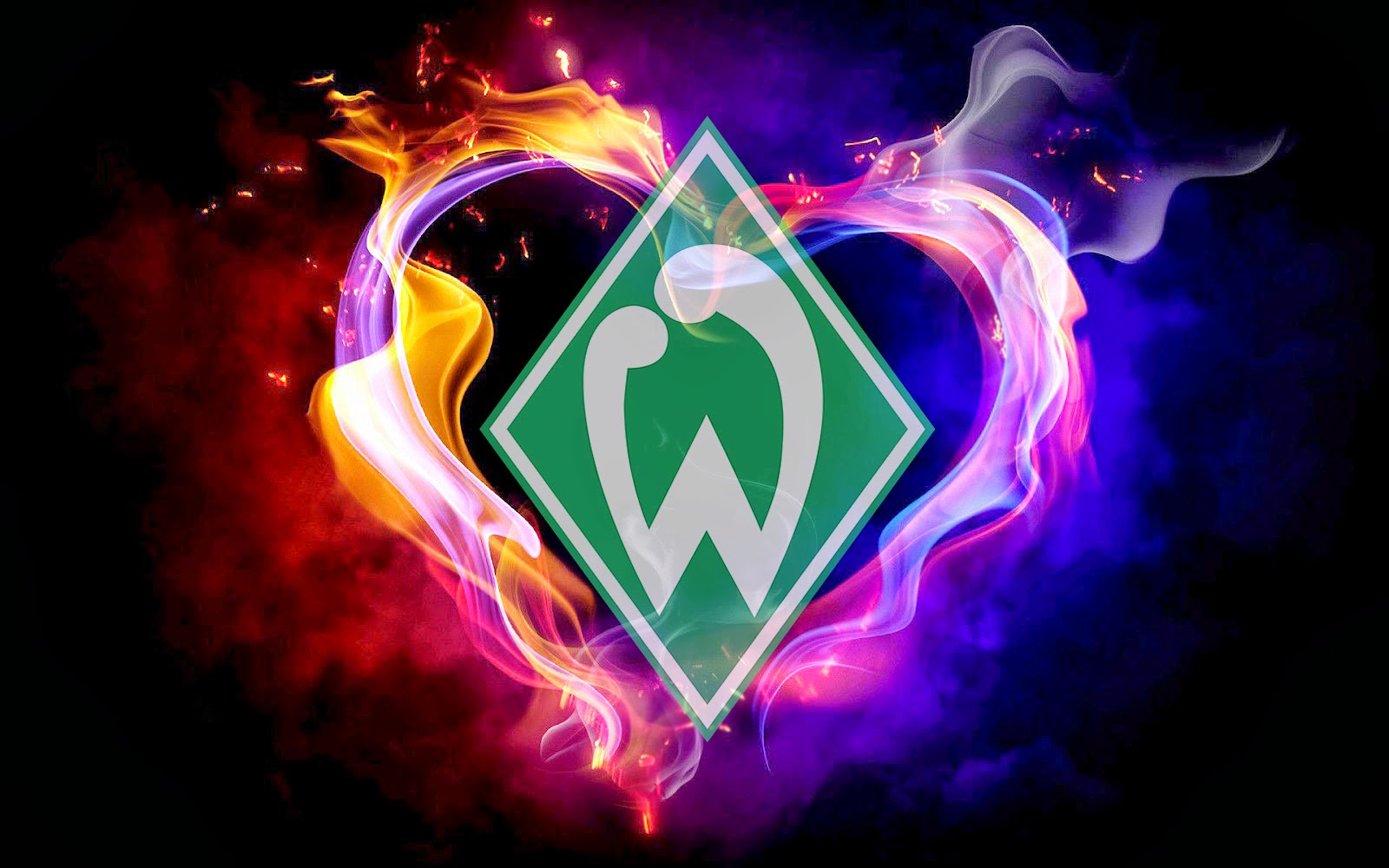 logo werder bremen hintergrund hd hintergrundbilder. Black Bedroom Furniture Sets. Home Design Ideas