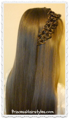 Cute braided 4 strand slide up braid hairstyle
