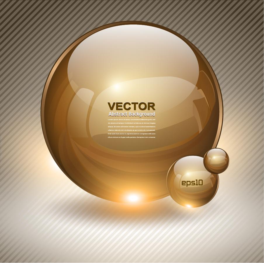 鮮やかに輝く球体のクリップアート high-quality brilliant sphere icons イラスト素材